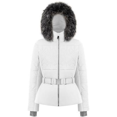 Poivre Blanc Women's Stretch Belted Ski Jacket - White