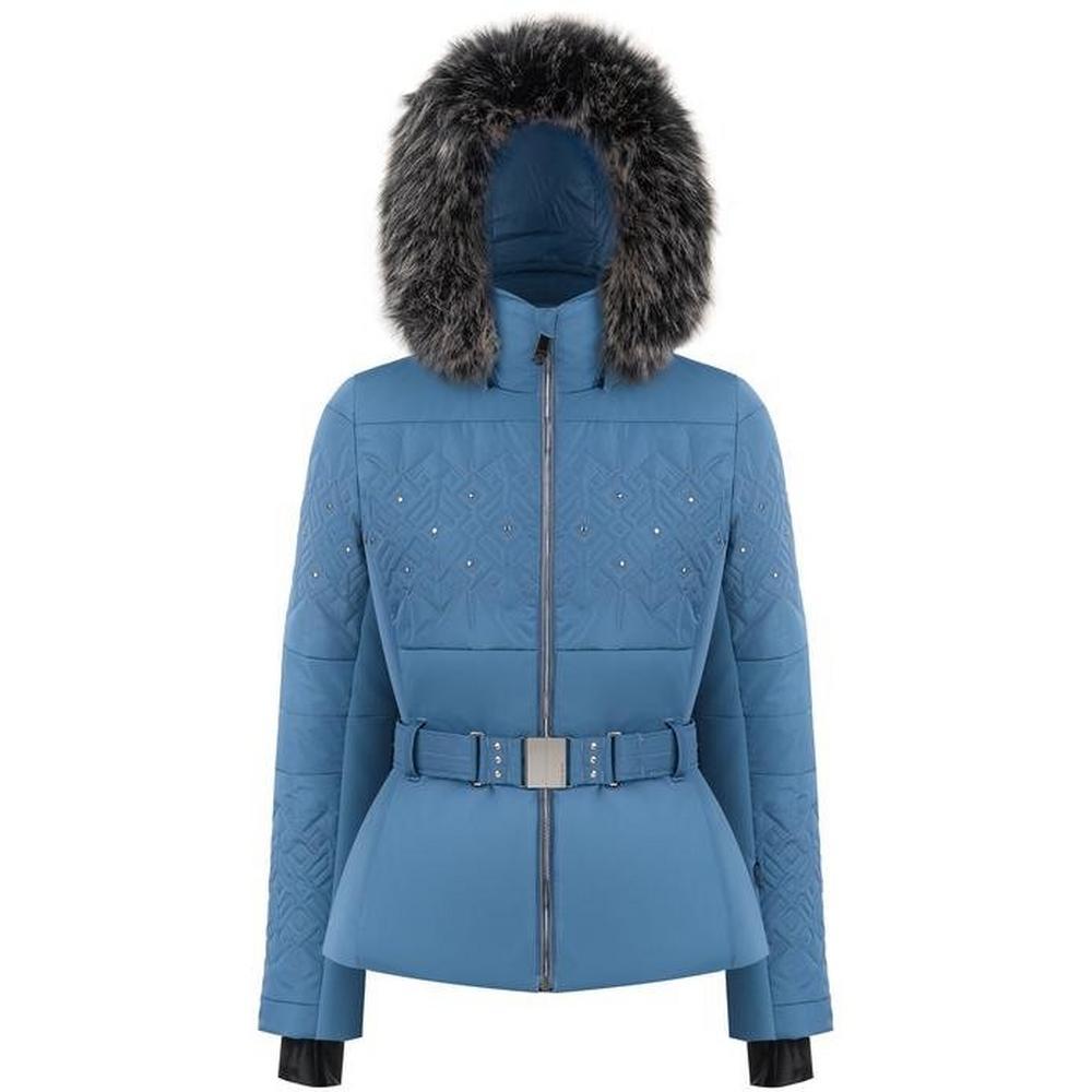 Poivre Blanc Women's Stretch Belted Ski Jacket - Twilight Blue