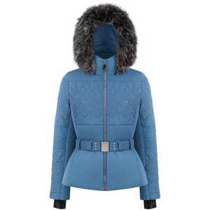Women's Stretch Belted Ski Jacket - Twilight Blue