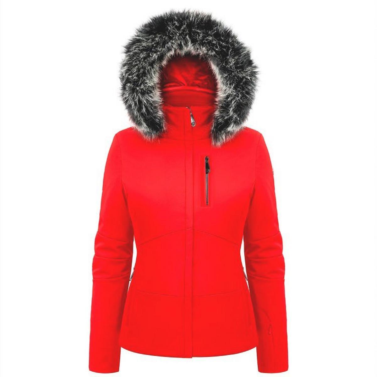 Poivre Blanc Women's Stretch Ski Jacket - Scarlet Red