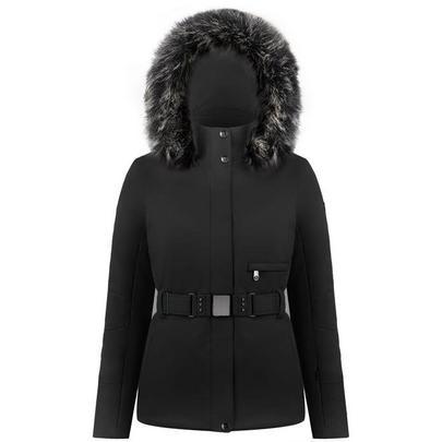Poivre Blanc Women's Stretch Belted Ski Jacket - Black