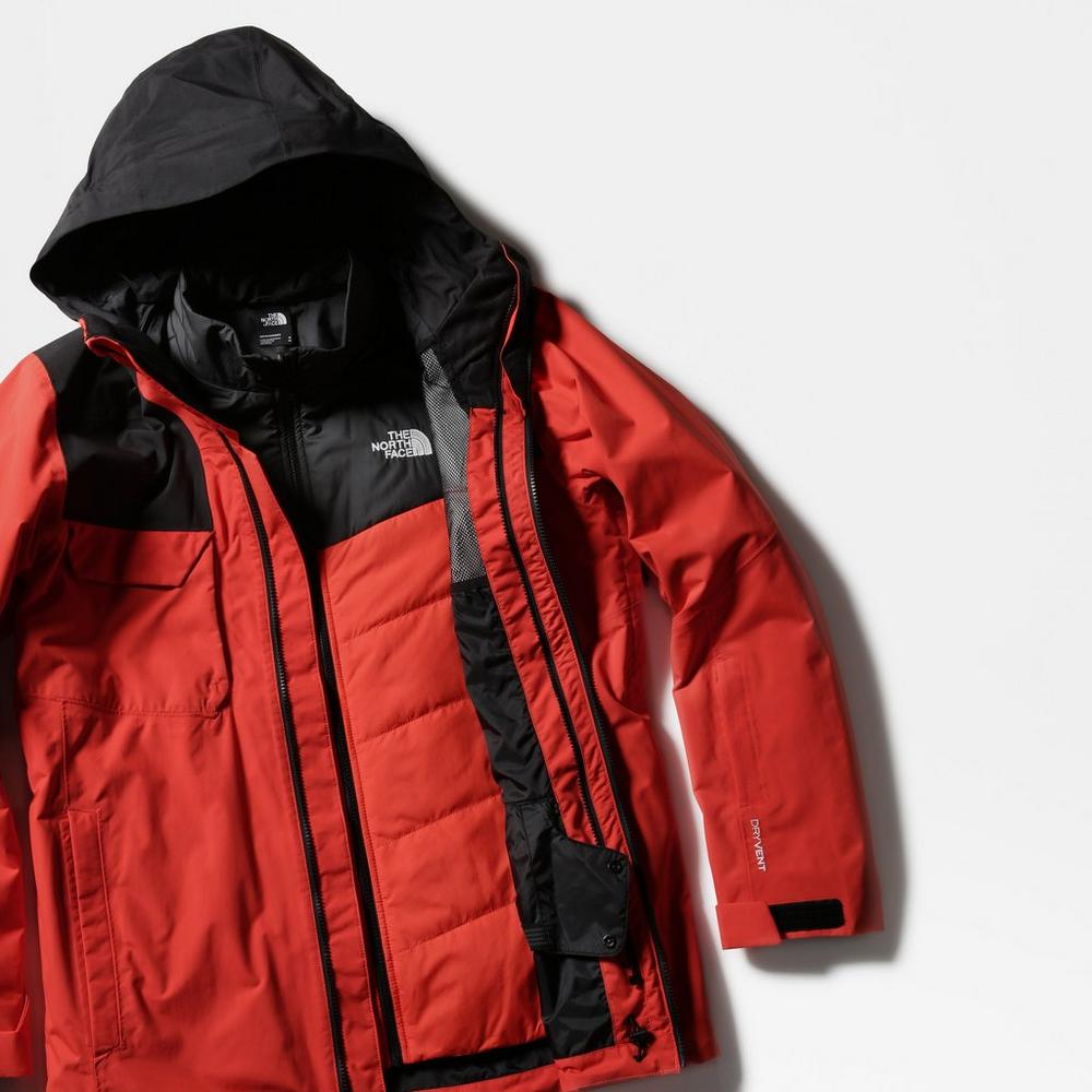 The North Face Men's Fourbarrel TriClimate Jacket - Red Flare