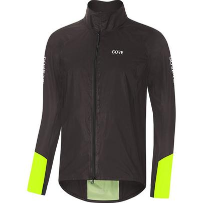 Gore Men's C5 Gore-Tex ShakeDry 1985 Waterproof Viz Jacket - Black/Neon Yellow