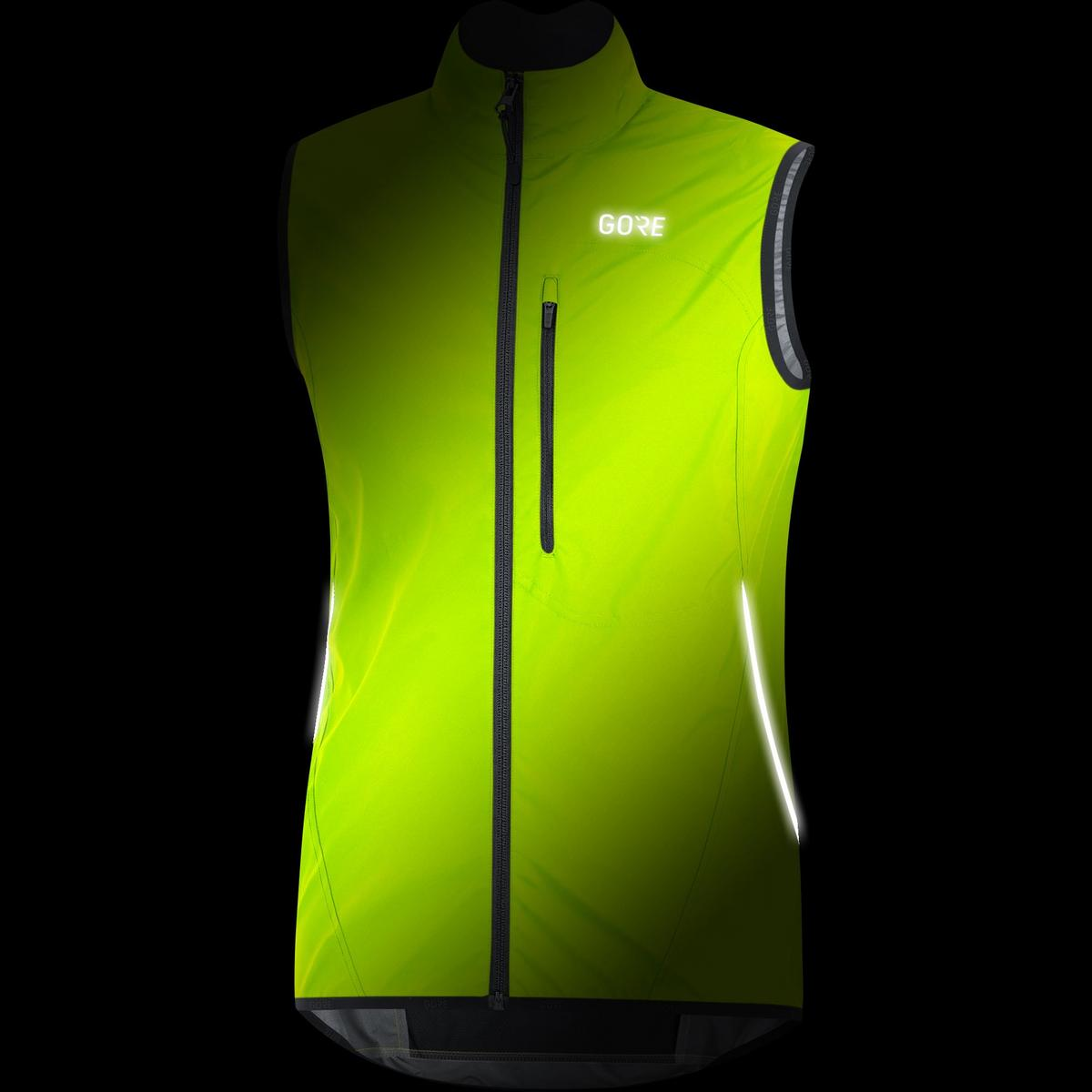 Gore Men's C3 WindStopper Light Vest - Neon Yellow