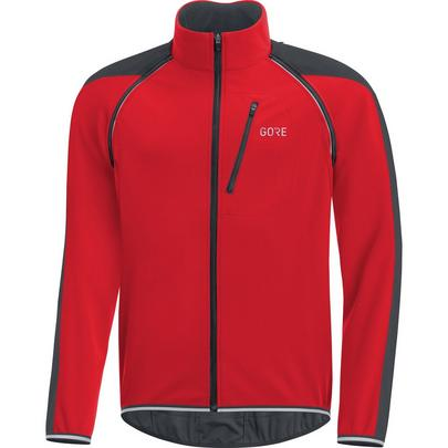 Gore Men's C3 Phantom Windstopper Zip-Off Jacket - Red/Black