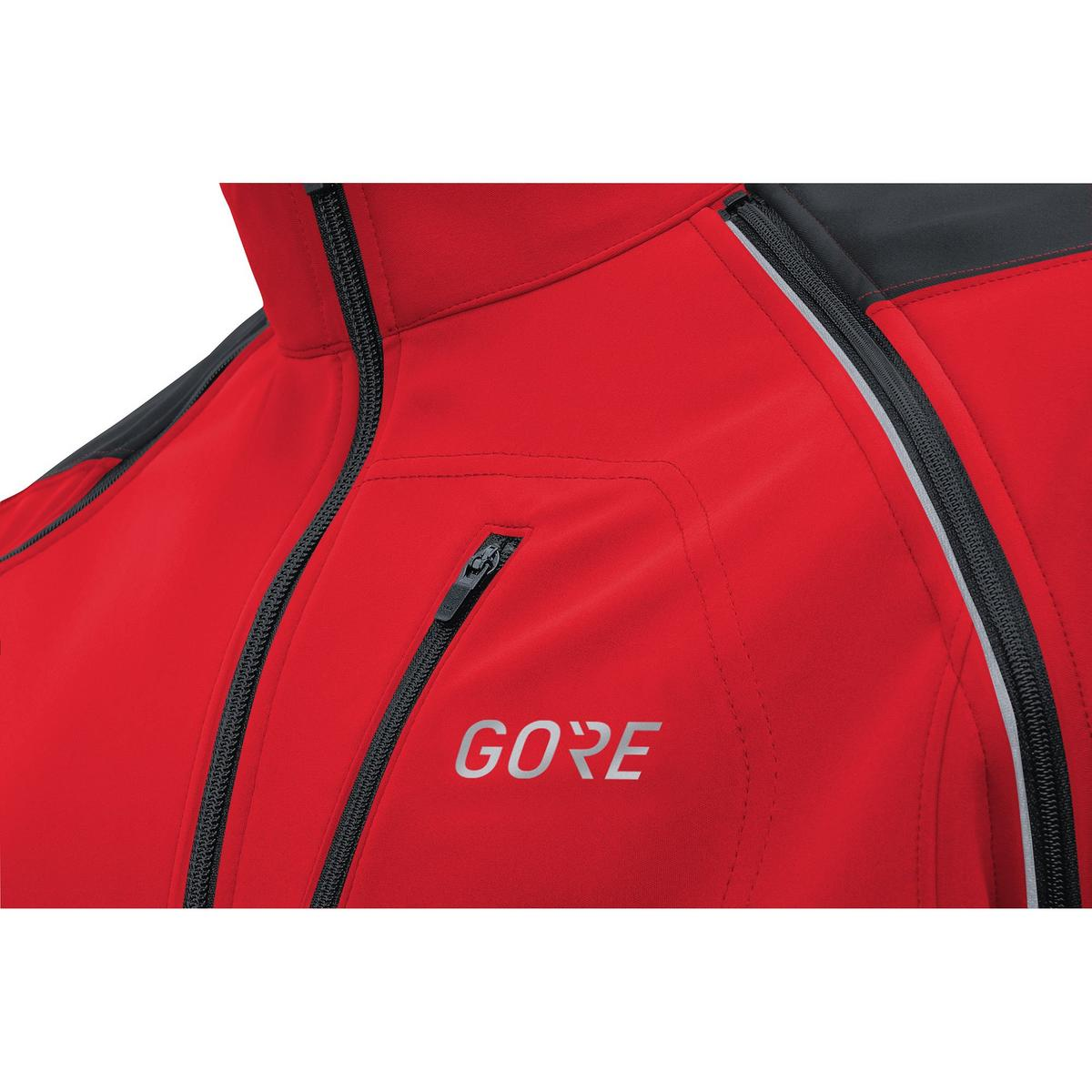 Gore Men's C3 Phantom Windstopper Zip-Off Jacket - Red/Black