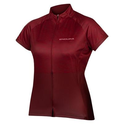 Endura Women's Hummvee Ray S/S Ltd Jersey II - Cocoa Red
