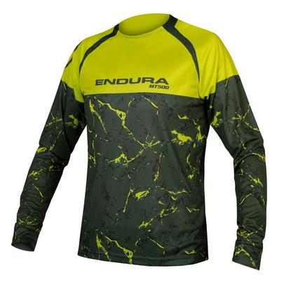 Endura Men's MT500 Marble L/S Tee Ltd - Green