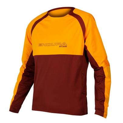 Endura Men's MT500 Burner L/S Jersey II - Tangerine