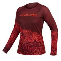 Women's MT500 Marble Long Sleeve Jersey Ltd - Cocoa Red