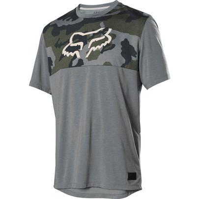 Fox Men's Ranger Dri-Release SS Jersey - Green Camo