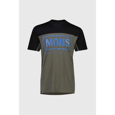 Mons Royale Men's Redwood Enduro VT Jersey - Olive/Black