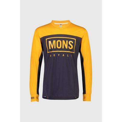 Mons Royale Men's Redwood Enduro VLS Jersey - Gold/Navy