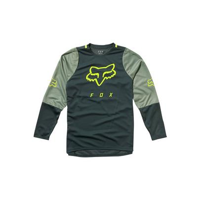 Fox Youth Defend L/S Jersey -  Green