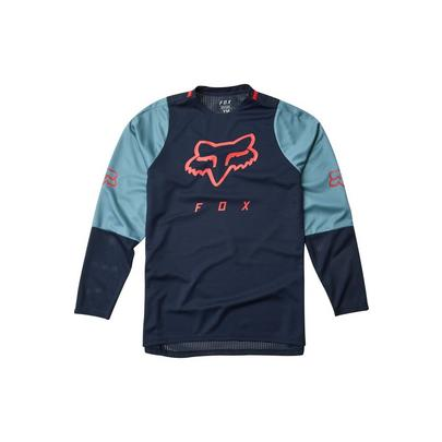 Fox Youth Defend Long Sleeve Jersey - Blue