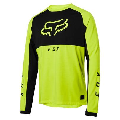 Fox Men's Ranger Dri-Release Mid Long Sleeve Jersey - Day Glo Yellow