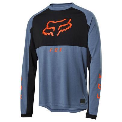 Fox Men's Ranger Dri-Release Mid Long Sleeve Jersey - Blue Steel
