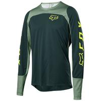 Defend Long Sleeve Fox Jersey - Green