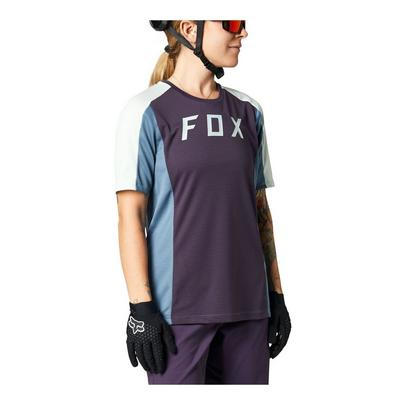 Fox Women's Defend Short Sleeve Jersey - Dark Purple
