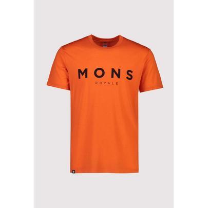 Mons Royale Men's Icon T-Shirt - Orange Smash
