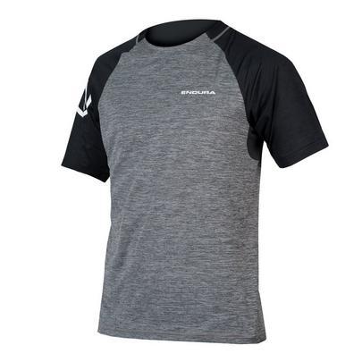 Endura Men's Singletrack Short Sleeve Jersey - Pewter Grey