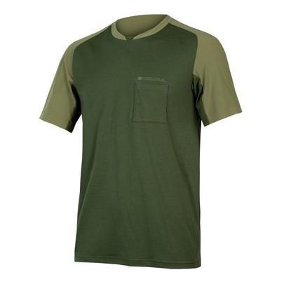 Endura Men's GV500 Foyle Tee - Olive Green
