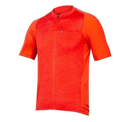 Endura Men's GV500 Reiver Short Sleeve Jersey - Paprika