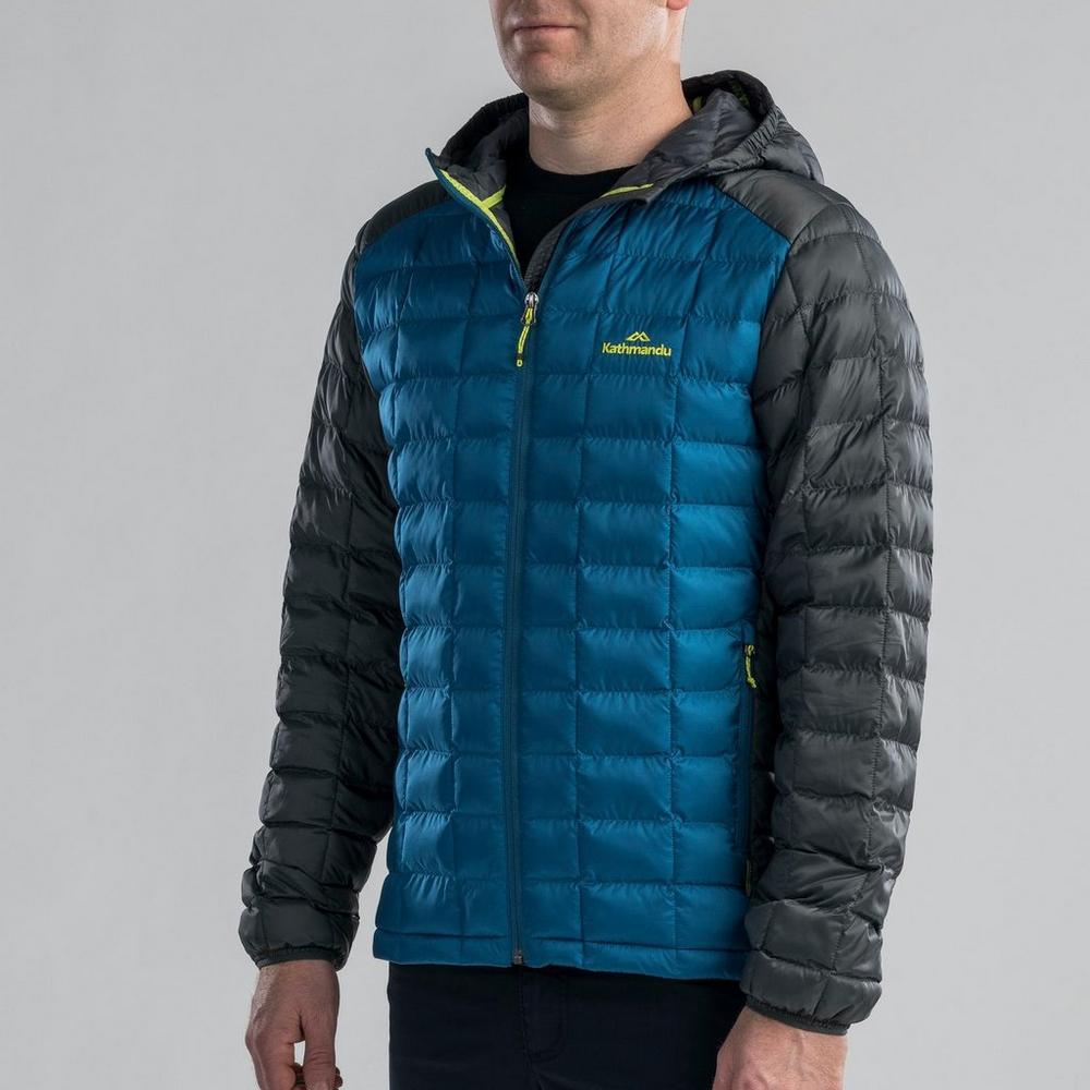 Kathmandu Men's Heli Thermore Hooded Jacket - Blue