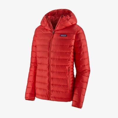 Patagonia Women's Down Sweater Hooded Jacket - Orange