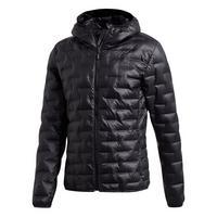 Men's Light Down Hooded Jacket - Black