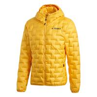 Men's Light Down Hooded Jacket - Active Gold