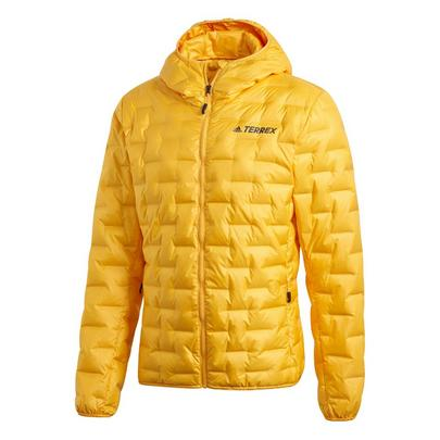 Adidas Men's Light Down Hooded Jacket - Active Gold