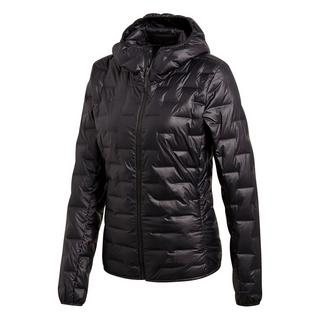 Women's Light Down Hooded Jacket - Black