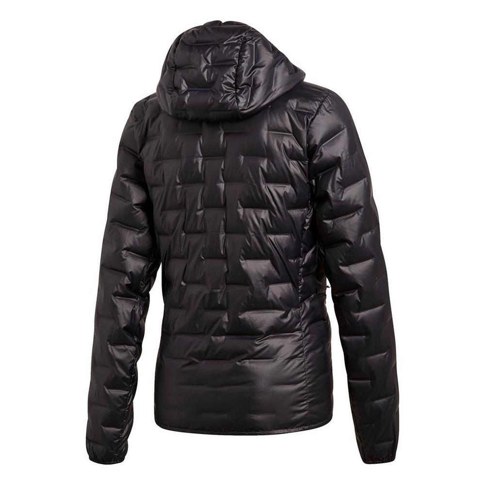 Adidas Women's Light Down Hooded Jacket - Black