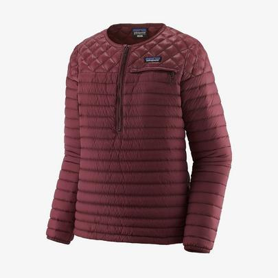 Patagonia Women's Alplight Down Pullover - Dark Ruby
