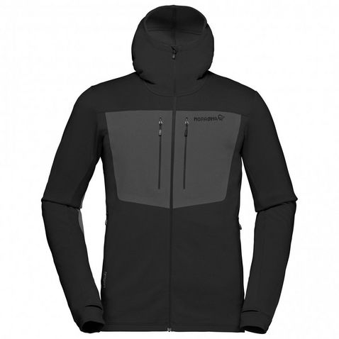 Black Norrona Men s Lyngen Powerstretch Pro Zip Hoodie ... 873f9179d1