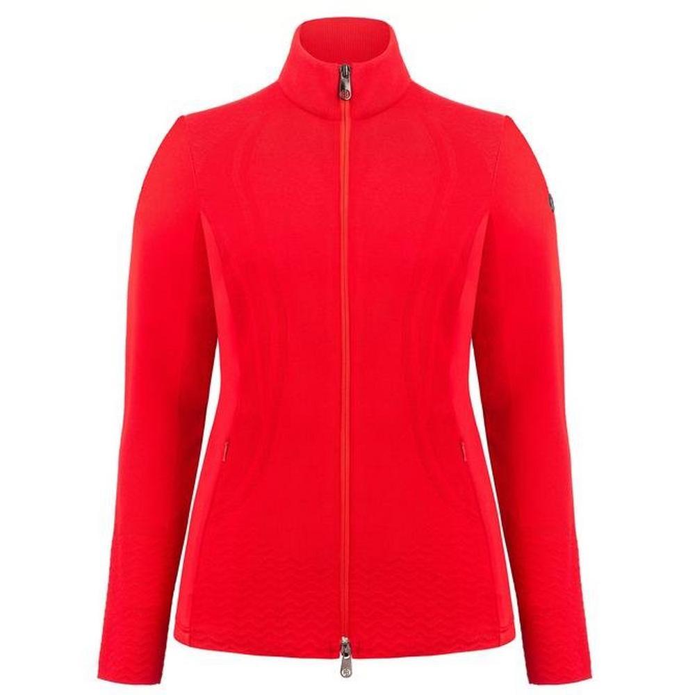 Poivre Blanc Women's Hybrid Knit Jacket - Scarlet Red