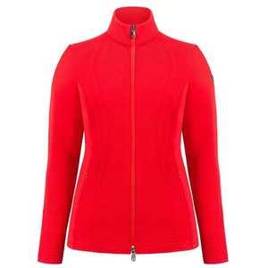 Women's Hybrid Knit Jacket - Scarlet Red