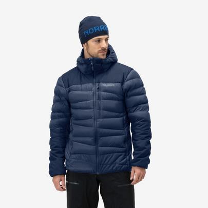 Norrona Men's Falketind Down 750 Hood Jacket - Indigo Night Blue