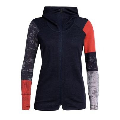 Icebreaker Women's Away II Long Sleeve Zip - Navy