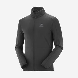 Men's Outrack Full Zip Mid Jacket - Black