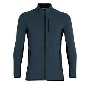 Men's Descender LS Zip - Serene Blue Black