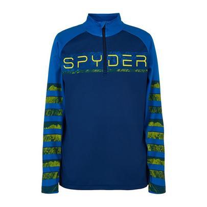 Spyder Kids Peak Zip T-Neck - Abyss