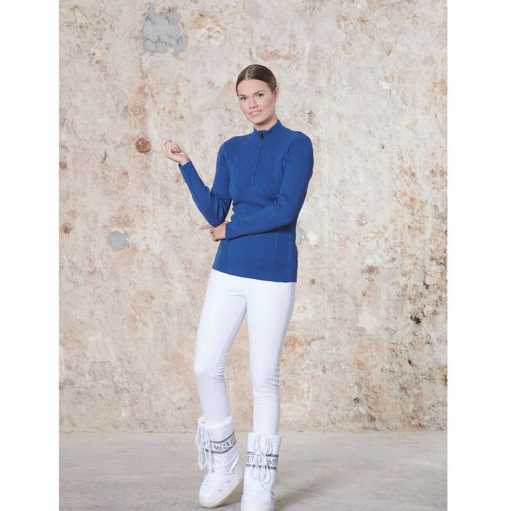 Poivre Blanc Women's Knit Sweater - Twilight Blue