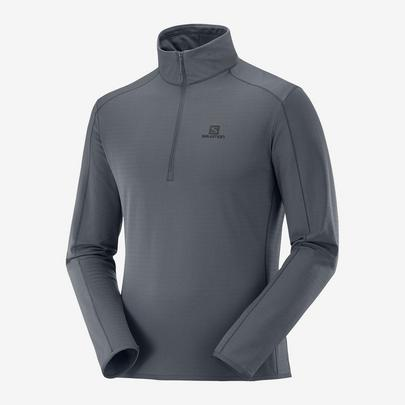 Salomon Outrack Half Zip Midlayer - Ebony