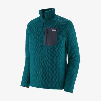 Patagonia Men's R1 Air Zip-Neck - Dark Borealis Green