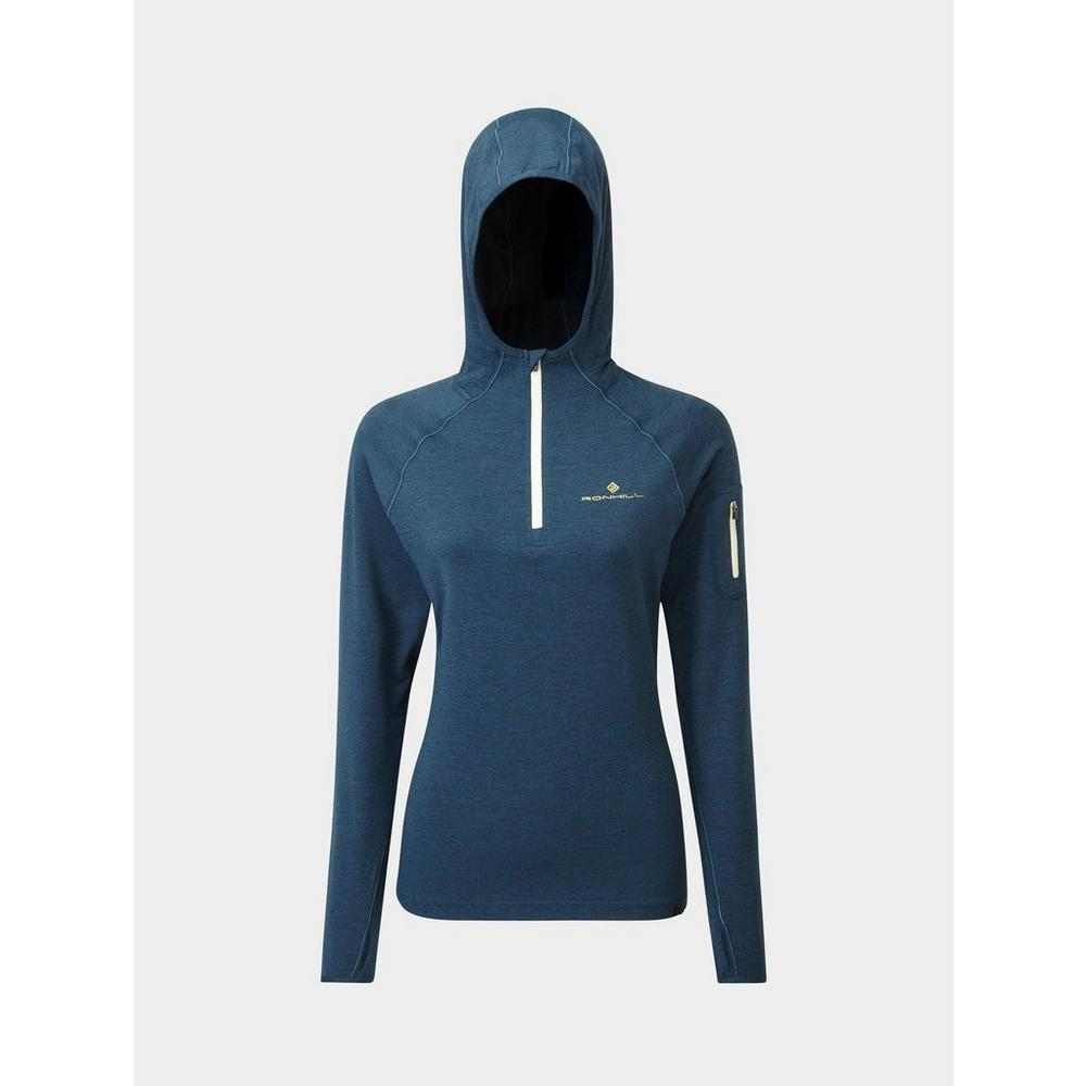 Ron Hill Women's Ron Hill Life Workout Hoodie - Blue