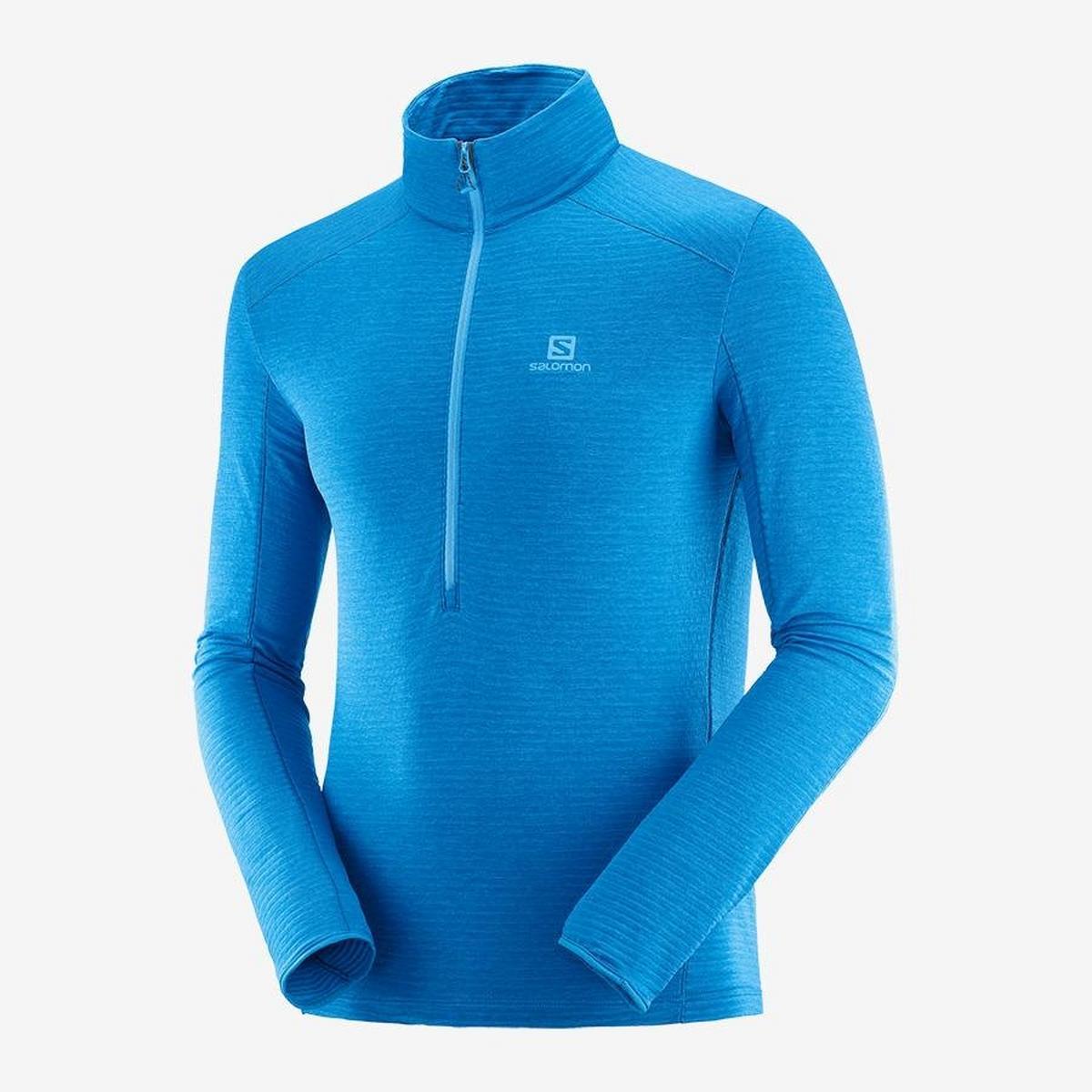 Salomon Men's Salomon Outline Half-Zip Mid Layer - Blue