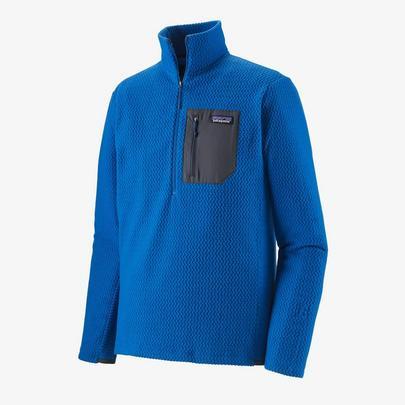Patagonia Men's R1 Air Zip Neck - Alpine Blue