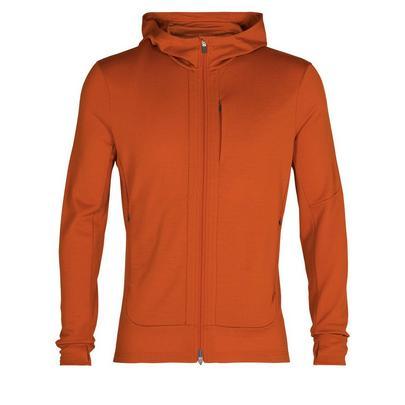 Icebreaker Men's Merino Quantum III Long Sleeve Zip Hoodie - Orange